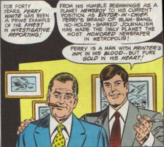 Perry White and Morgan Edge. Art by Curt Swan and Frank Chiaramonte, 1979.